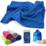 CIMOFUN Cooling Towel,40x12 inch Down Instantly Multi-purpose Sport Towel for Workout,Fitness,Gym,Yoga,Pilates,Travel,Camping & More Used as Cooling Neck Headband or Scarf(5 Color)
