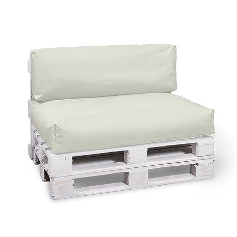 BuBiBag palé almohada - Juego de 2 - Asiento acolchado 120 x ...