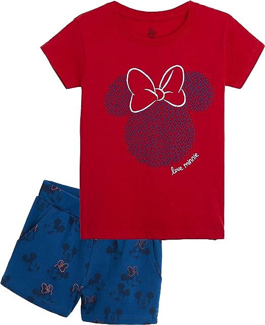 Disney Minnie Mouse Pijama Niña Verano, Ropa de Niña Algodon 100%, Conjuntos de 2 Piezas Top y Pantalon Corto Niña, Regalos Originales para Niñas Edad 8-14 Años: Amazon.es: Ropa y accesorios