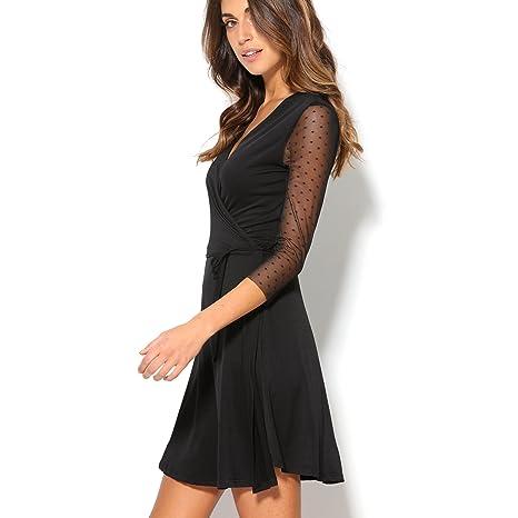 VENCA Vestido Corto de Fiesta Mujer by Vencastyle - 007617: Amazon.es: Ropa y accesorios
