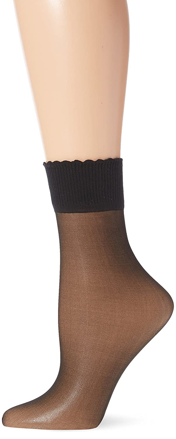 Berkshire womens standard Sheer Anklet Socks -fantasy black One Size 6753