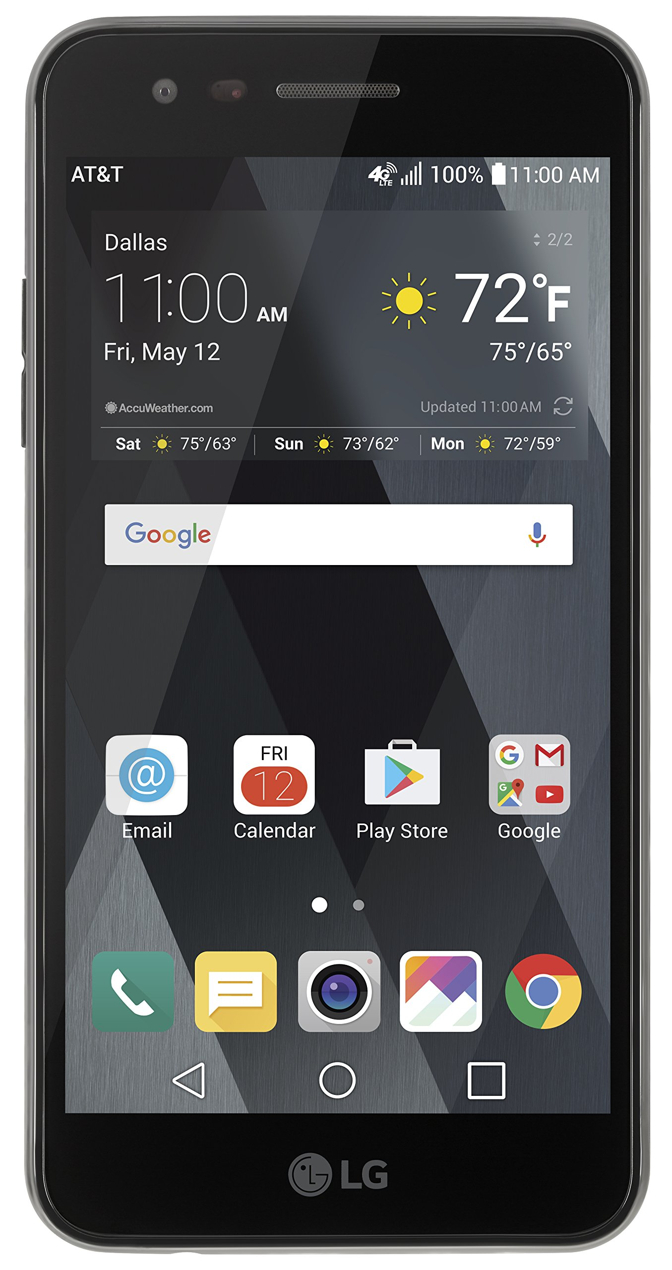 AT&T GoPhone LG Phoenix 3 4G LTE with 16GB Memory Prepaid Cell Phone - Black by AT&T GoPhone