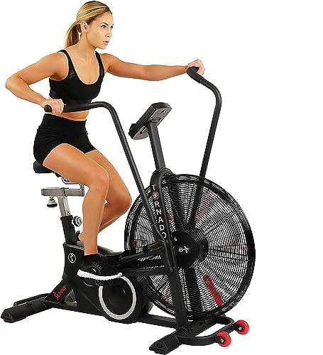Sunny Health Fitness Exercise Tornado Fan Air Bike