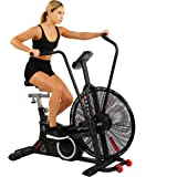 Sunny Health & Fitness Exercise Tornado Fan Air Bike with Bluetooth and Heart Rate Compatibility - SF-B2729