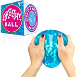 Power Your Fun Arggh Glitter Stress Ball for Adults and Kids - Medium Squishy Stress Ball Fidget Toy, Anti Stress…