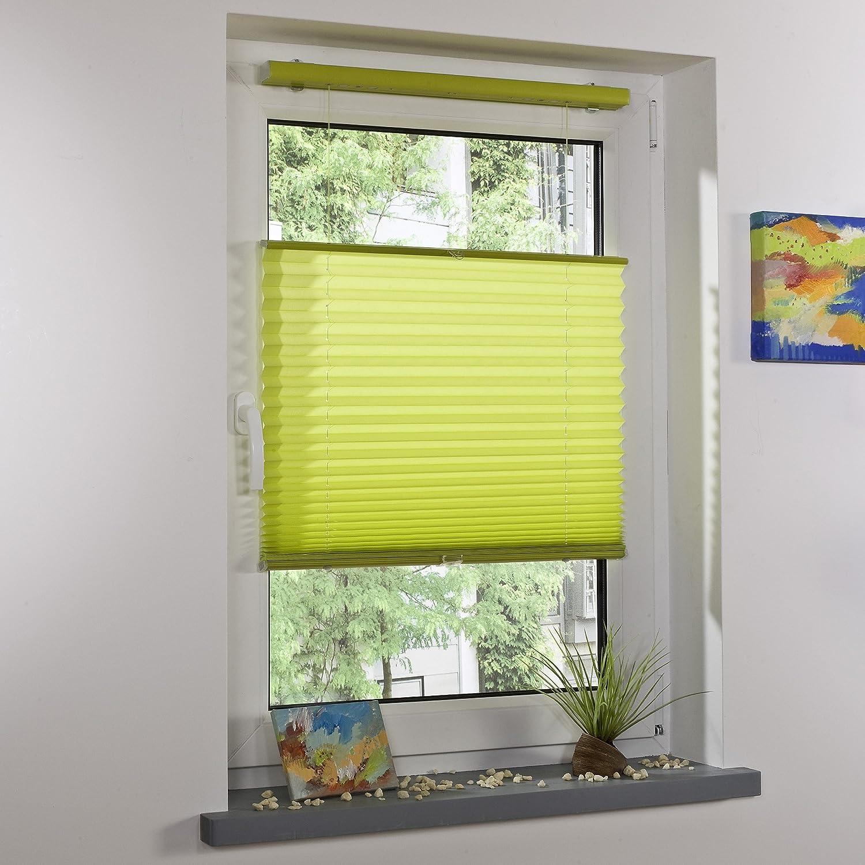 Amazon.de: LIEDECO® 70x130cm Klemmfix Plissee Freihängend, Apfelgrün,  Komplett Mit Montagematerial