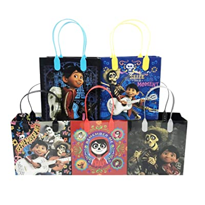 Coco Party Favor Reusable Goodie Bags/ Gift Bags - Premium Quality - 24pc: Toys & Games