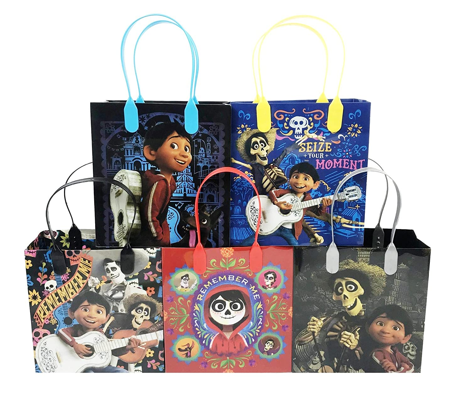 Disney/Pixar Coco Party Favor Reusable Goodie bags/ Gift Bags - Premium Quality - 24pc
