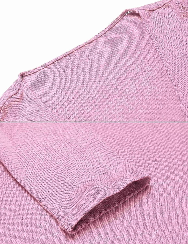 Idomeo Women 3//4 Sleeve Tie Front Shrug Cropped Bolero Open Cardigans S-XXL