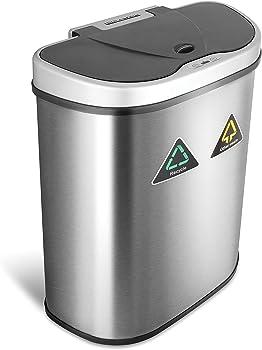 Nine Stars 18.5-Gallon Motion Sensor Auto Open Recycling Bin