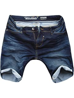 Herren Shorts Jeans Optik Männer kurze Hose Sweat Denim Urban Surface LUS-117