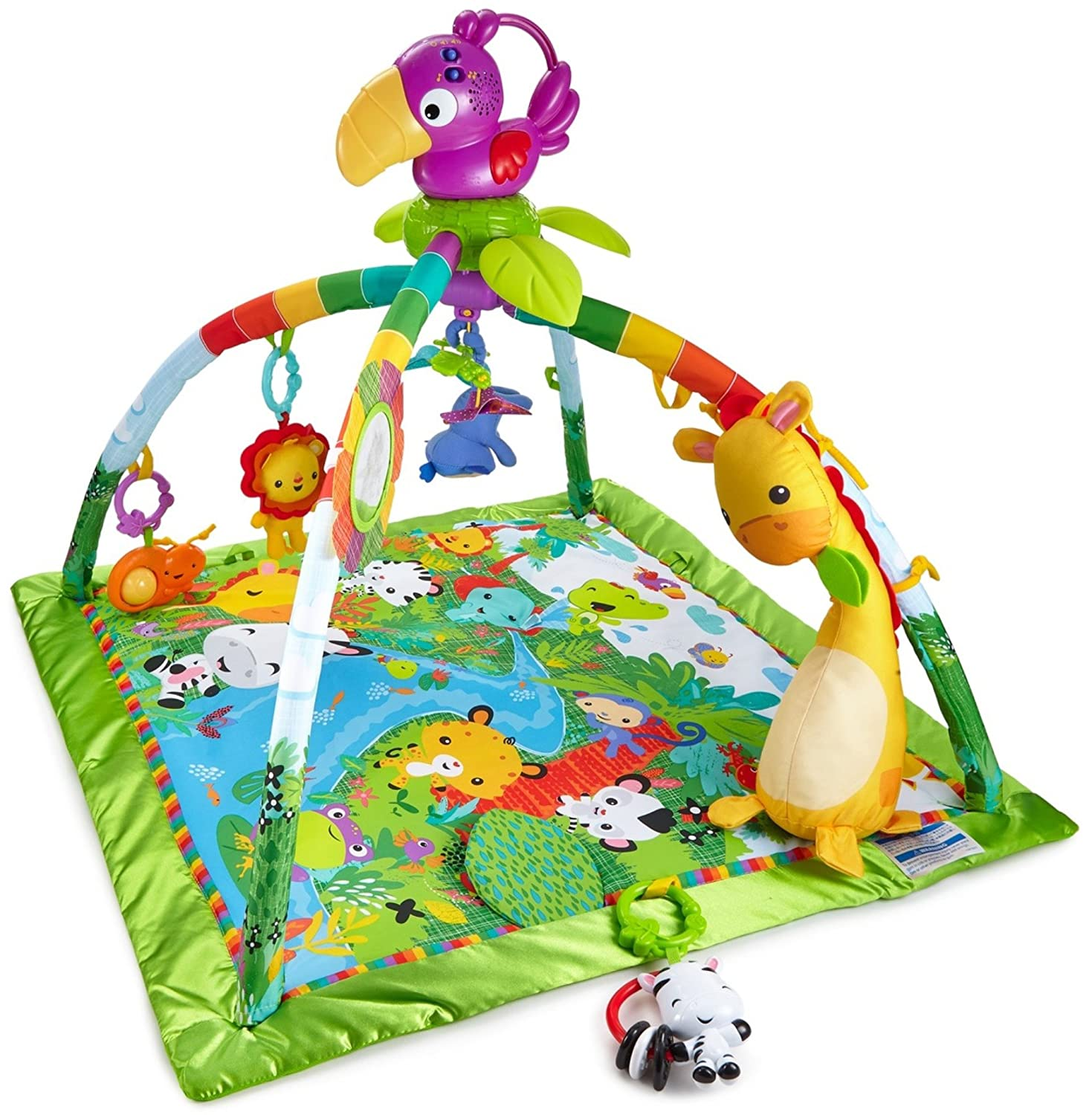 Fisher-Price Music & Lights Deluxe Gym, Rainforest DFP08