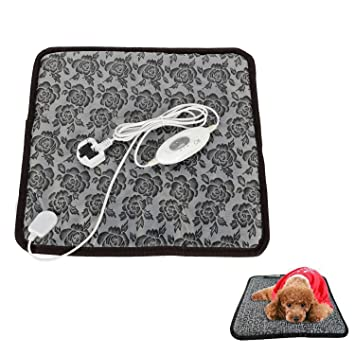 imurz calor mascota manta calefacción Pad calentador calentador eléctrico Mat Manta de cama Calefacción Pad para perro gato mascota 45 x 45 cm: Amazon.es: ...