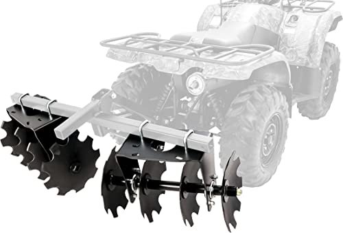 Black Boar ATV/UTV Disc Harrow Implement with Adjustable Sides