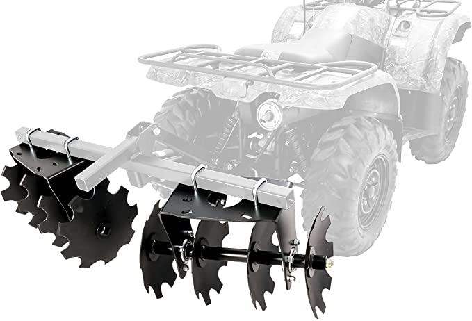 Amazon.com: Black Boar ATV/UTV Disc Harrow Implement with Adjustable Sides, for Cultivating, Establishing a Food Plot and Maintaining Your Property (66001): Automotive