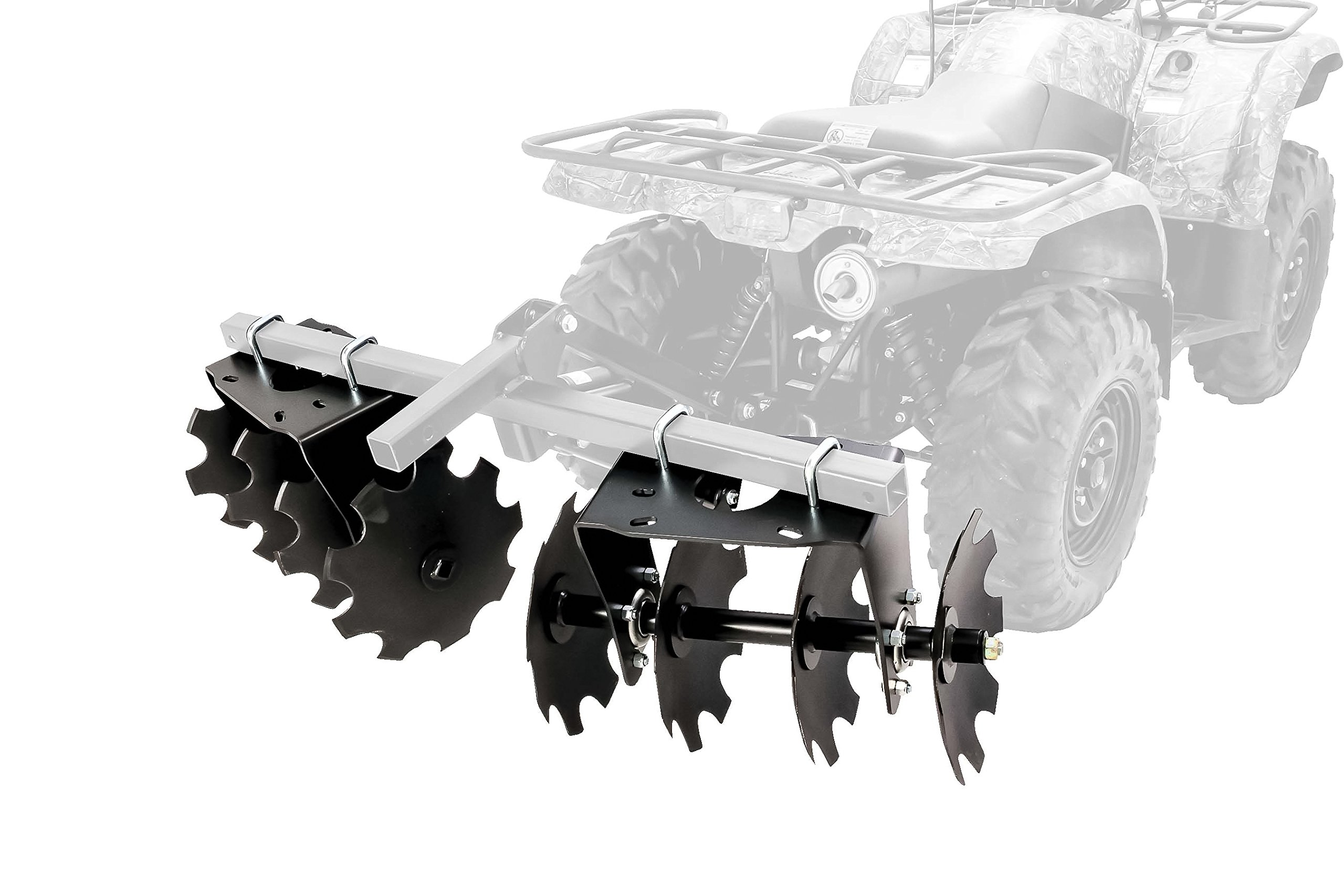 Black Boar ATV/UTV Disc Harrow Implement with Adjustable Sides, for Cultivating, Establishing a Food Plot and Maintaining Your Property (66001) by Black Boar