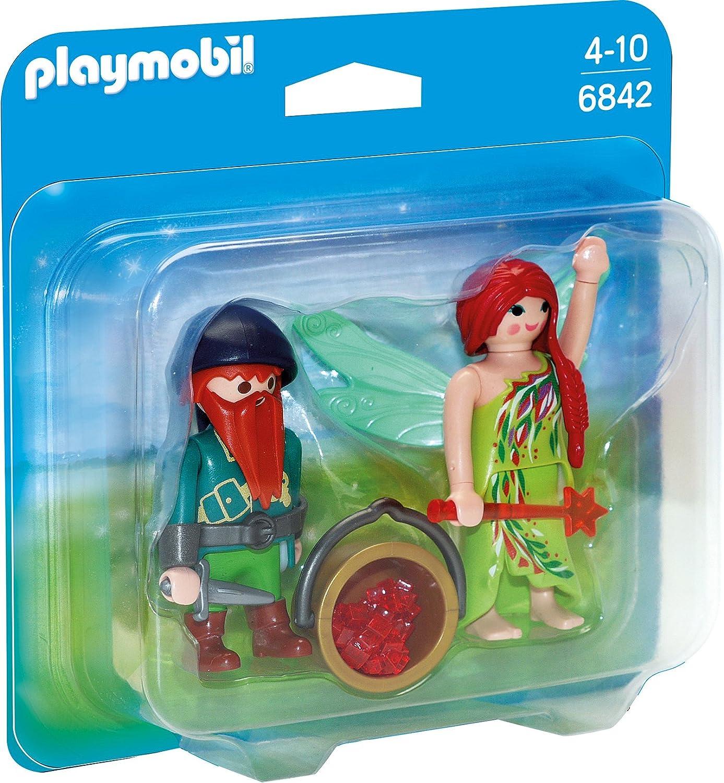 Playmobil 6842 - Duo Pack Elfe und Zwerg: Amazon.de: Spielzeug