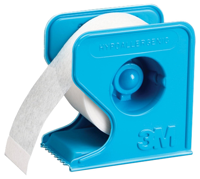 Sparadrap Microporeux Non Tissé Hypoallergénique En Dévidoir Bleu 3M Micropore, MIDEV50, Blanc, 9,14 m x 5 cm 30707387007400