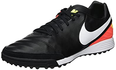 buy online 25b0e aa6ff NIKE Tiempox Mystic V TF Mens Football-Shoes 819224-018_8.5 -  Black/White-Hyper Orange-Volt