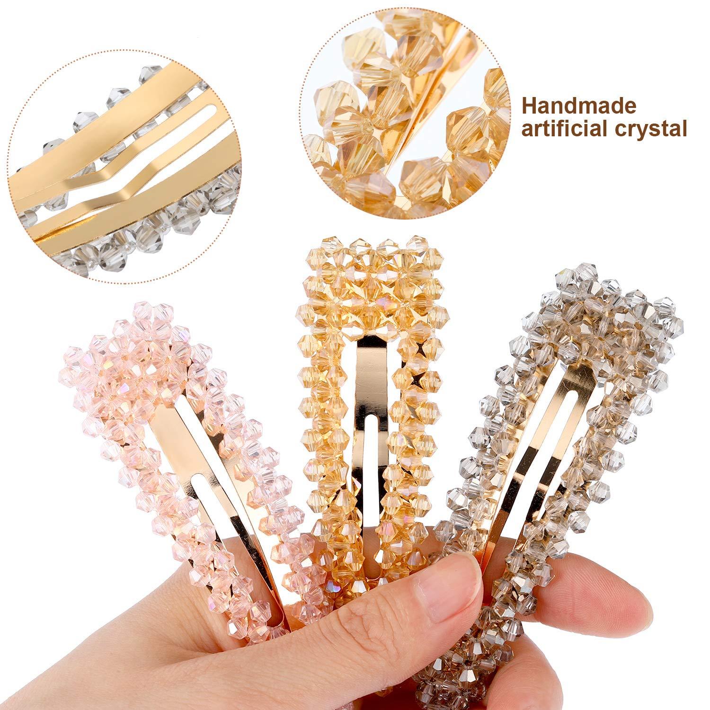 40PC Crystal Rhinestone Hair Pins Bride Hair Clips Bridal Bling Hair Decor IN9