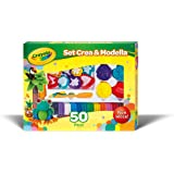 Crayola; Modeling Clay Deluxe Kit; Art Tools; 50 Pieces; Soft, Pliable Clay Won't Dry Out