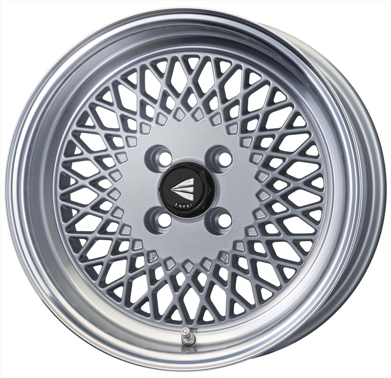 エンケイ アルミホイール ENKEI92 15 x 8.0J +25 4H 100 Machining Silver EK92-580-25-4C-S B06WRQXYL8