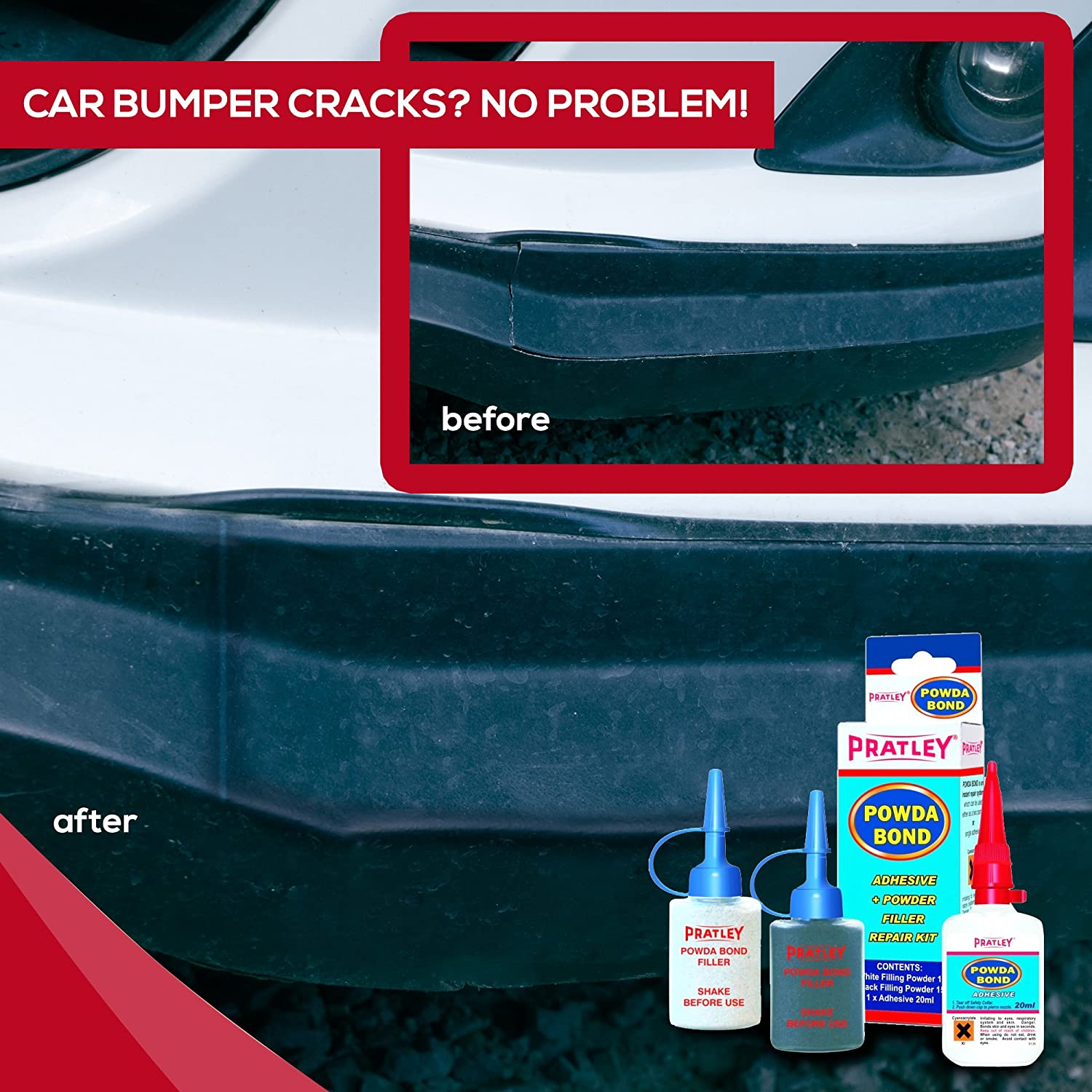 Amazon.com: Plastic Repair - Acrylic Glue for Car Bumper Fix, Crack ...