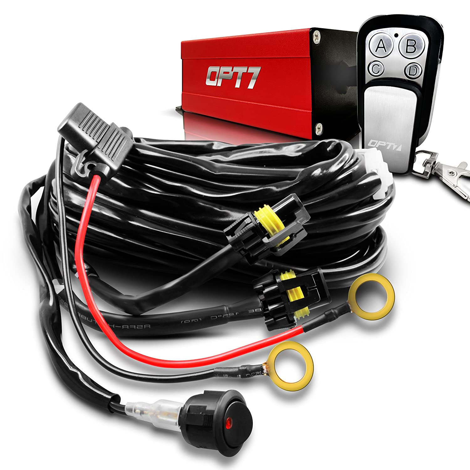 81N7E3oL3DL._SL1500_ amazon com wireless remote control universal wiring harness off independent control auxiliary lamp wire harness kit instructions at gsmx.co