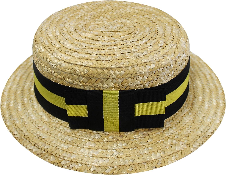 Gorro gondolero con cinta amarilla y negra: Amazon.es: Hogar