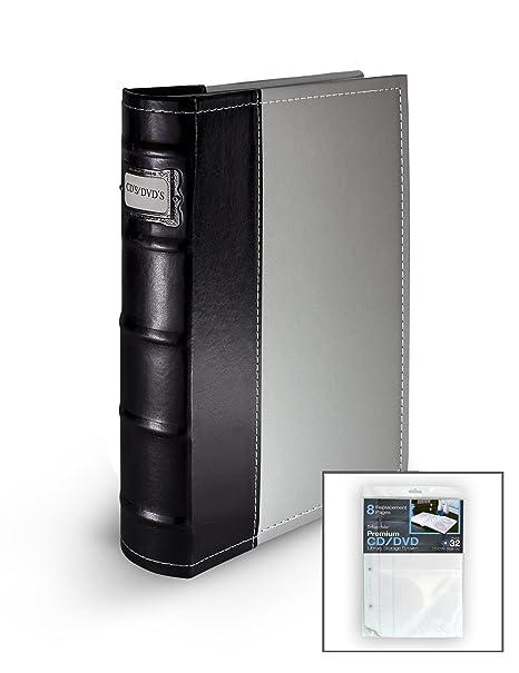 Bellagio Italia Gray DVD Storage Binder   Stores Up To 80 DVDs, CDs,