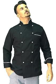 Fratelliditalia Giacca Cuoco Chef Giacca Bianca Nera Blu Celeste ... fd554a824222