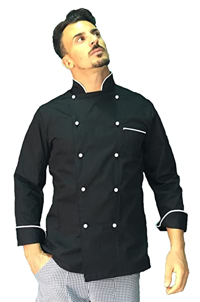giacca chef nera uomo