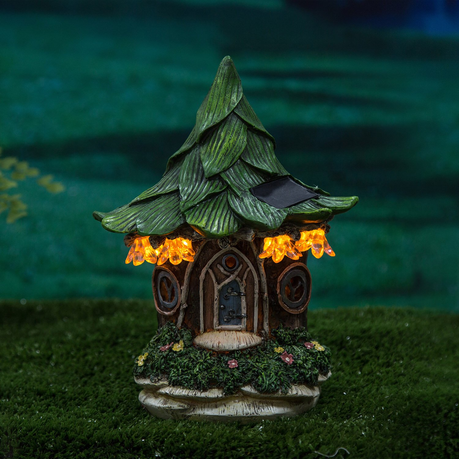 Ivy Home Solar Powered Garden Fairy Statues Tree Hanging Resin Fairy House by Ivy Home (Image #4)