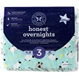 Honest Overnight Diapers, Sleepy Sheep, Size 3, 30 Count