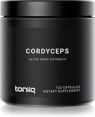 20% Cordycepic Acid Cordyceps Sinensis Capsules - 1300 mg CS-4 Strain - 40% Polysaccharides - The Strongest Cordyceps Available - 120 Veggie Capsules