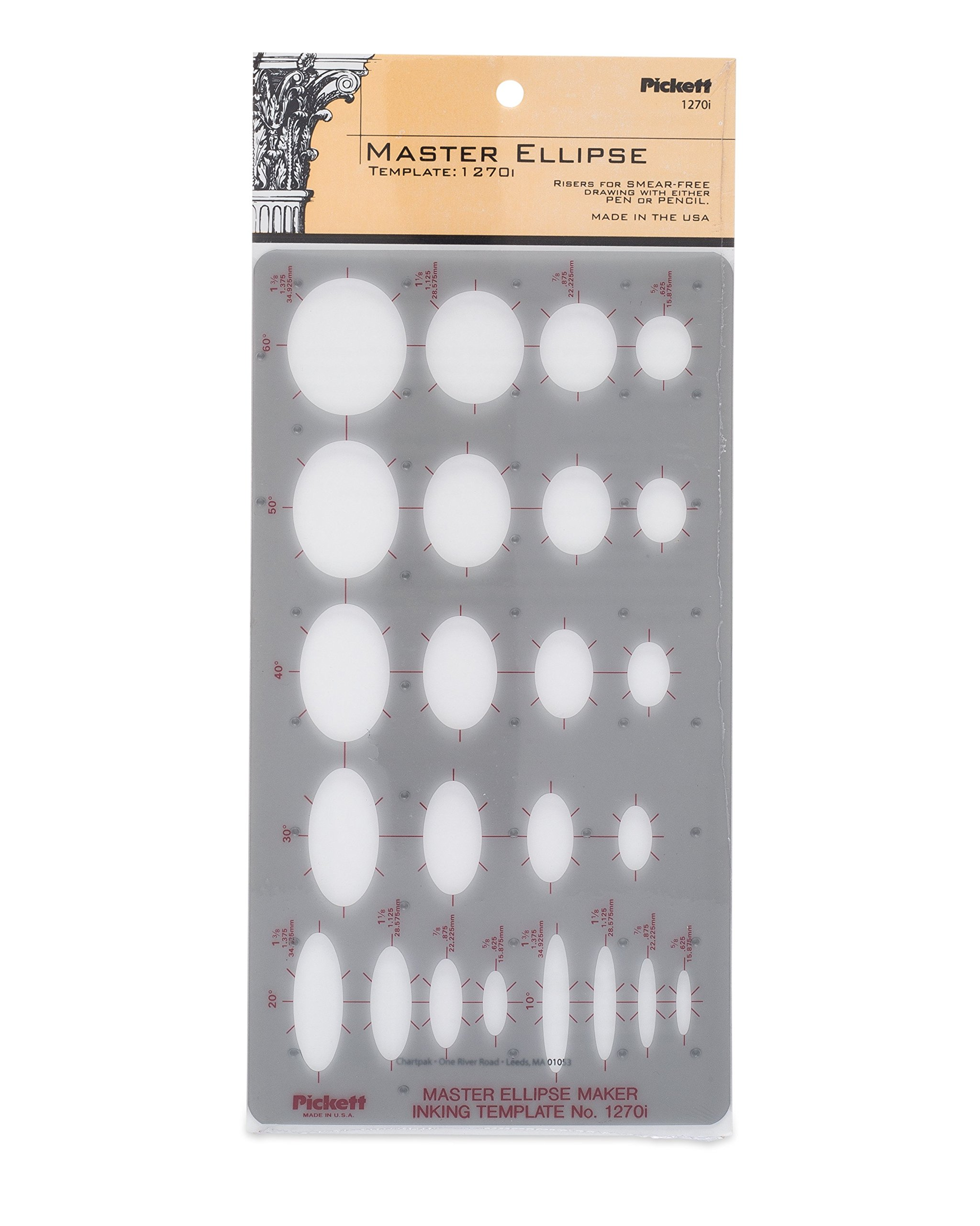 Pickett Master Ellipse Template (1270I)