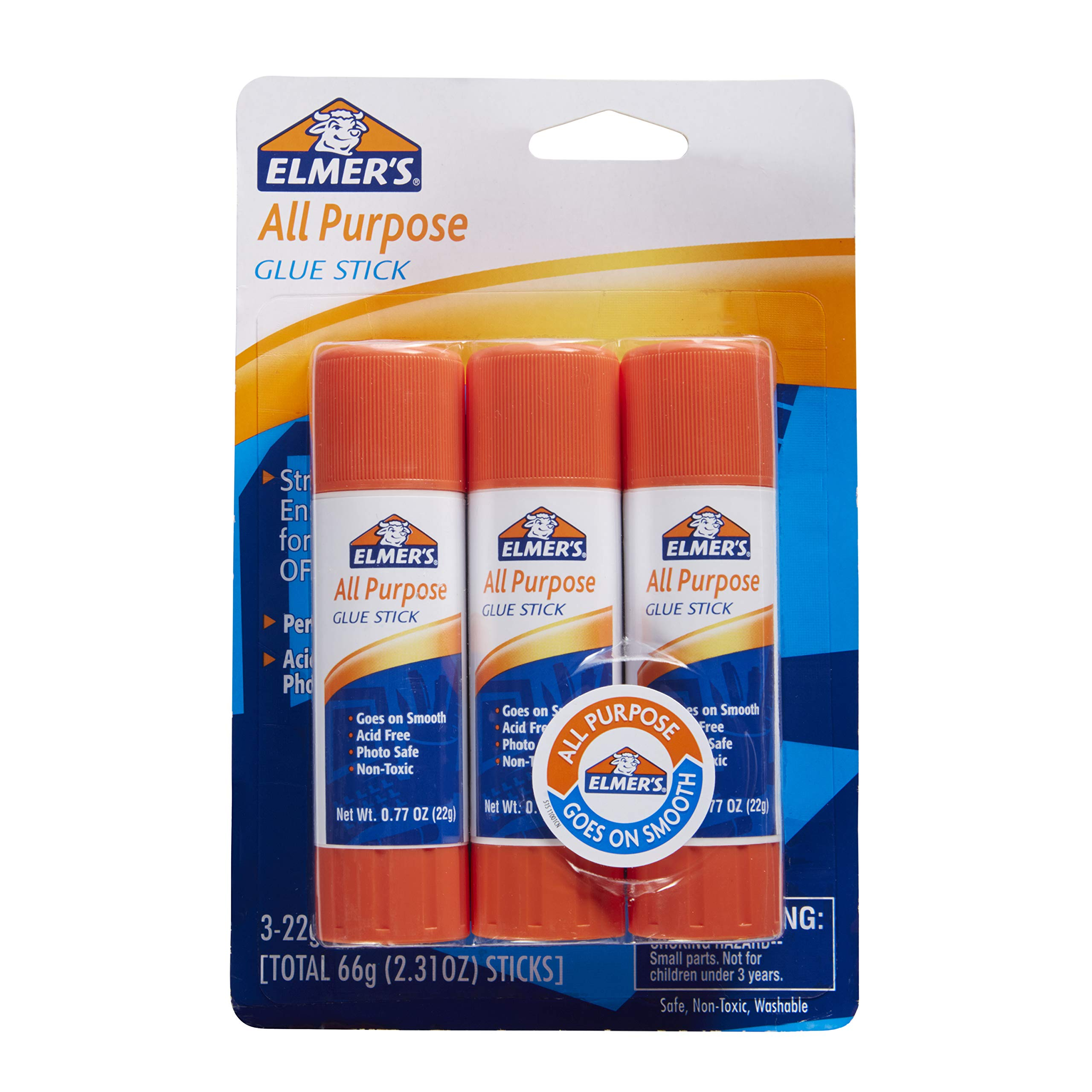 Elmer's All Purpose Glue Sticks, 0.77 Ounce, 3 Count