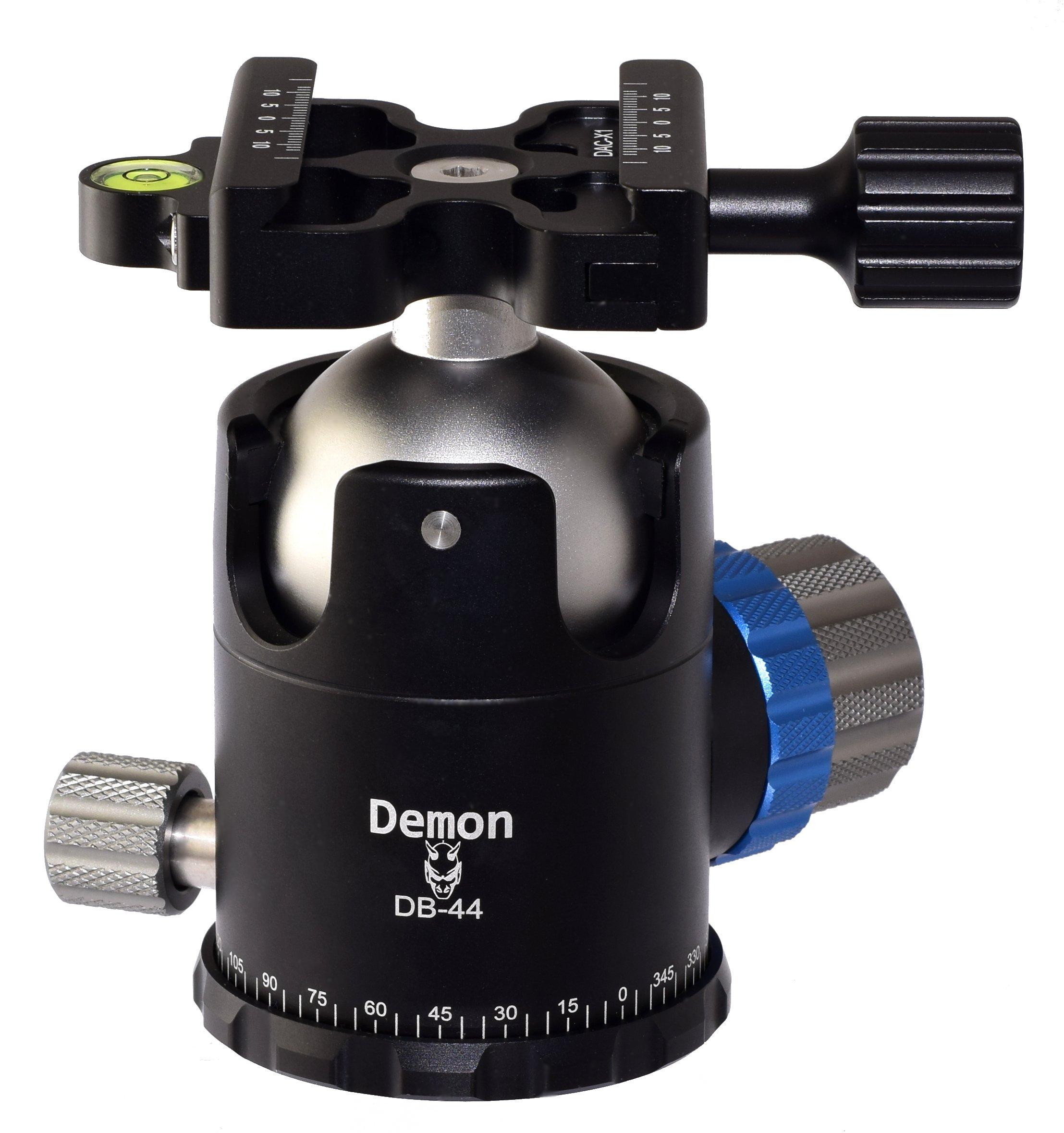 Desmond Demon DB-44 44mm Tripod Ball Head Arca/RRS Compatible w Pan Lock & DAC-X1 Clamp by Desmond