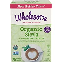 Wholesome Sweeteners Organic Stevia, 75 count (2.65 OZ)