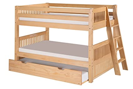 Amazon Com Camaflexi Mission Style Solid Wood Low Bunk Bed With