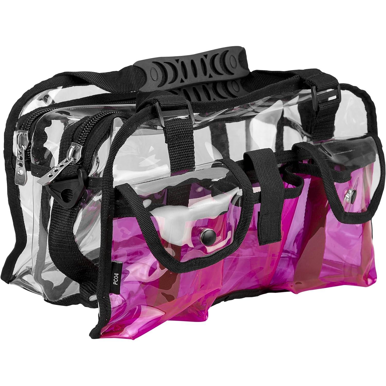Casemetic Giardino Carry Clear Set Makeup Bag, Pink, 2 lb, 1 Count