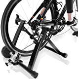 DRMOIS Bike Trainer Stand – Portable Stainless Steel Indoor Exercise Bicycle Trainer Magnetic Flywheel, Stationary Bike Resis