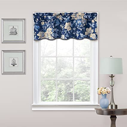 TRADITIONS BY WAVERLY Kitchen Valances for Windows - Forever Yours 52\