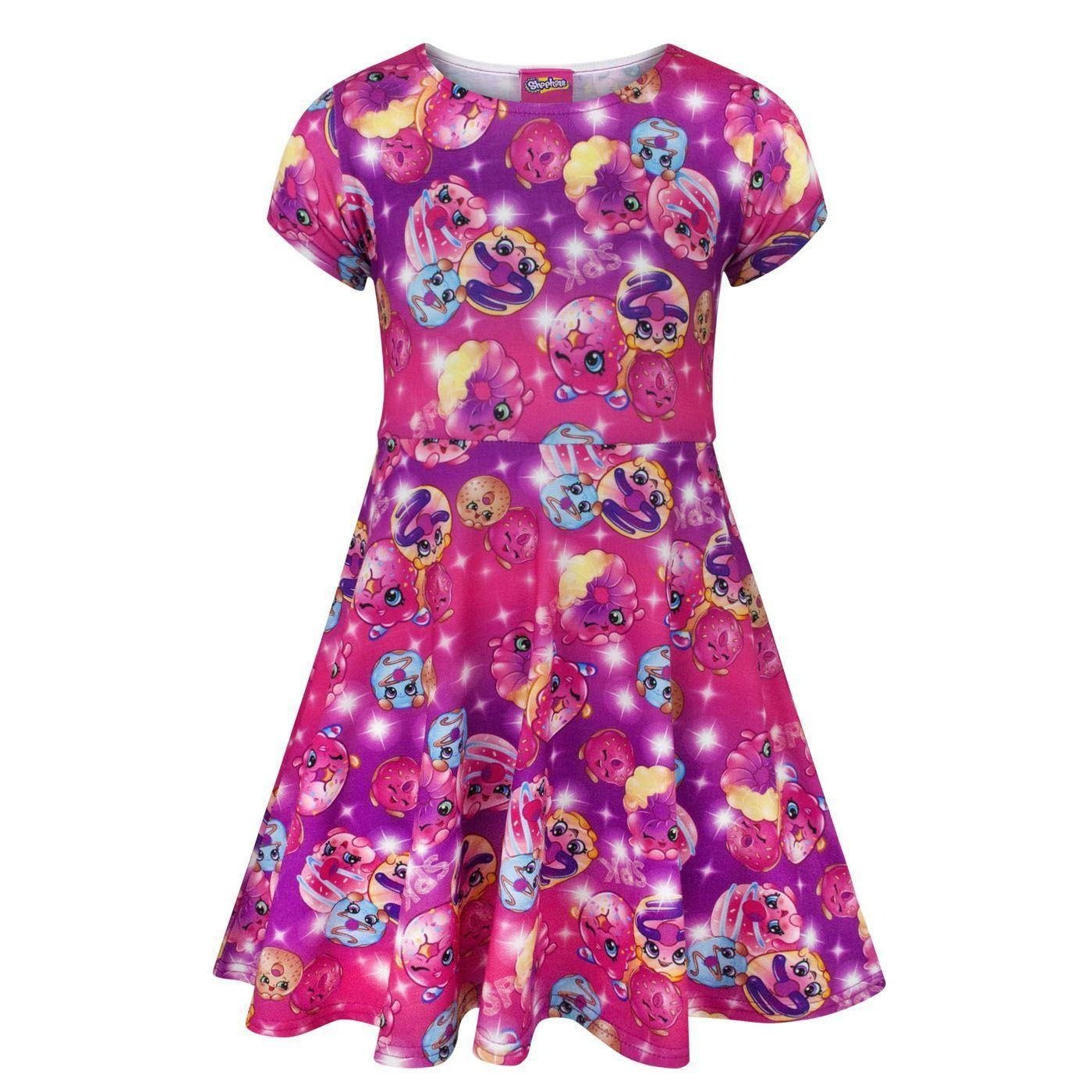 Shopkins Childrens Girls D'Lish Donut Short Sleeved Dress