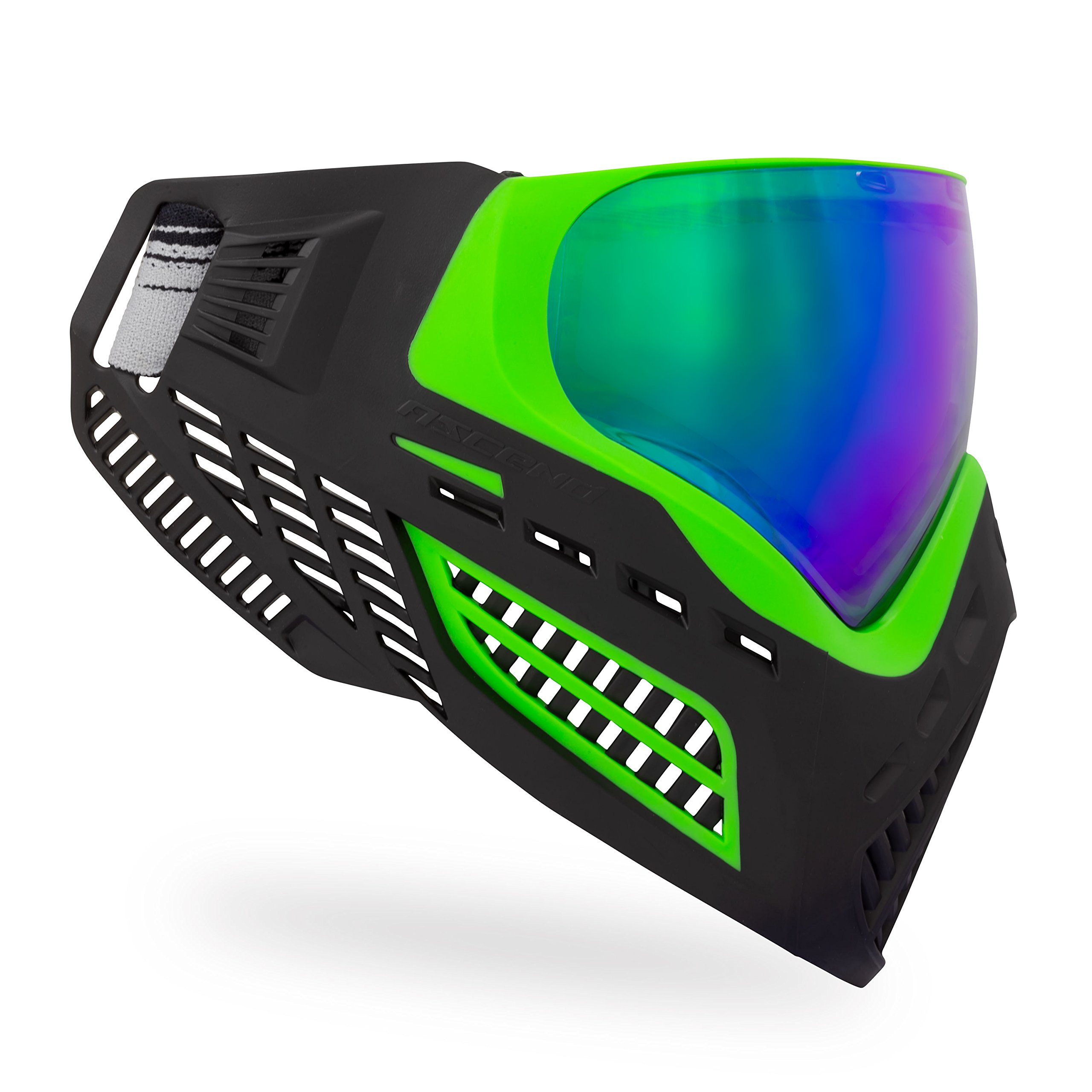 Virtue VIO Ascend Thermal Paintball Goggles with Dual Pane Lens (Lime Emerald) by Virtue Paintball