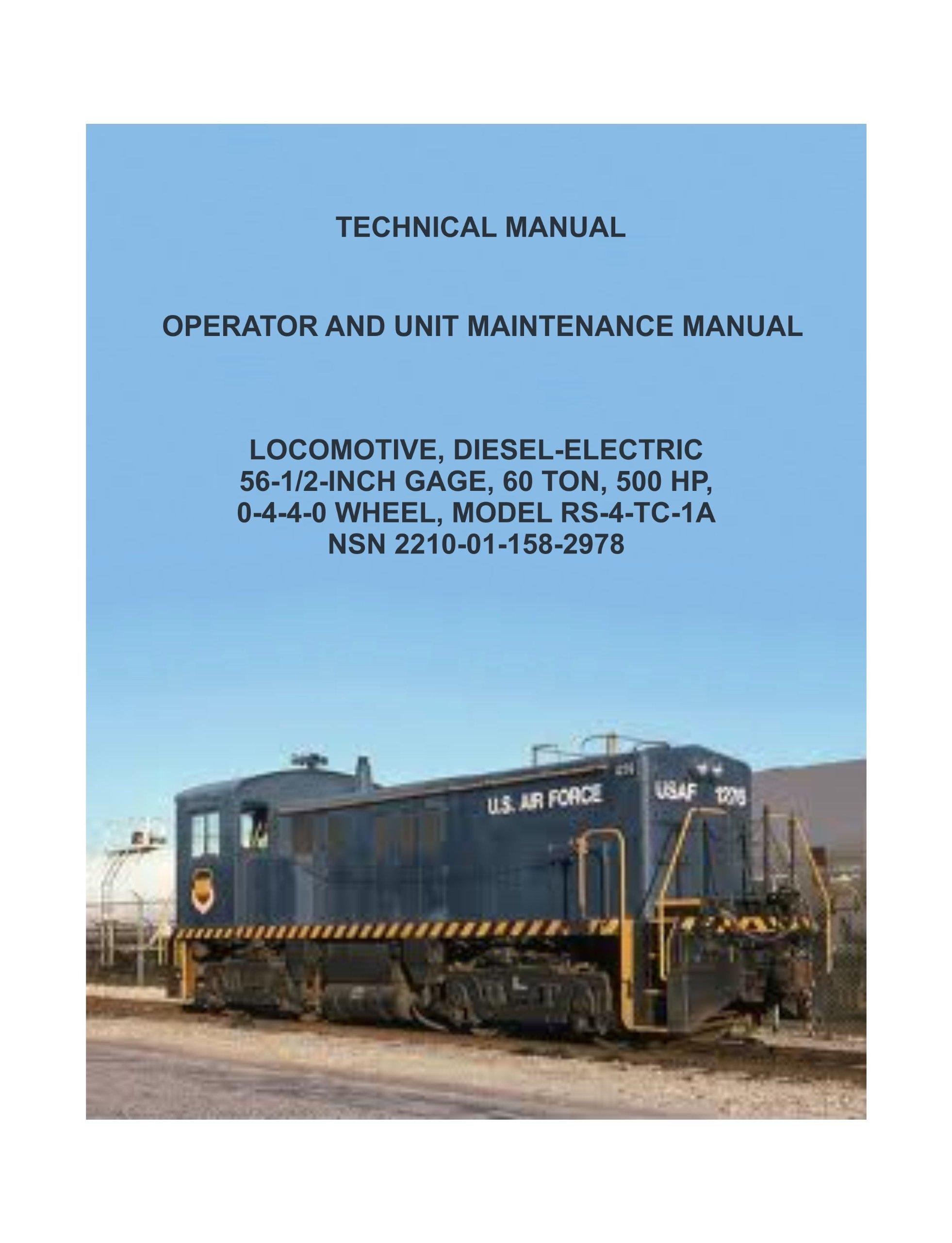 locomotive diesel electric model rs 4 tc 1ansn operator and unit rh amazon com TC- 4C Scion tC 4 Door