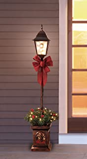 Amazon northlight 48 led lighted indooroutdoor lamp post holiday time pre lit 4 christmas lamp post tree clear lights 3 aloadofball Images