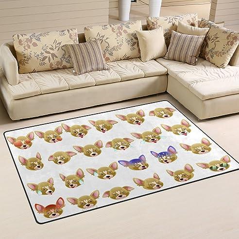 Ingbags Super Weich Moderner Chihuahua Hund Emoji Ein Wohnzimmer - Teppich im schlafzimmer