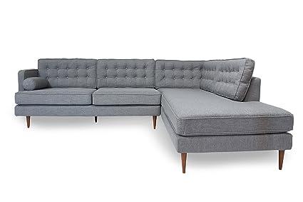 Amazon.com: Myers Goods Mid Century Modern Sectional Sofa ...