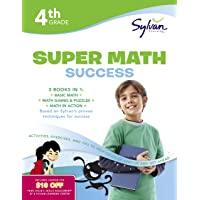 4th Grade Jumbo Math Success Workbook: 3 Books in 1 --Basic Math; Math Games and Puzzles; Math in Action;  Activities, Exercises, and Tips to Help ... and Get Ahead (Sylvan Math Jumbo Workbooks)